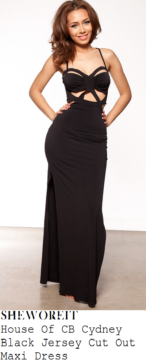 Shannon-bex-black-cut-out-sleeveless-side-split-maxi-dress