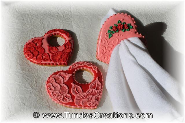 Valentine's napkin ring cookies by Tunde Dugantsi