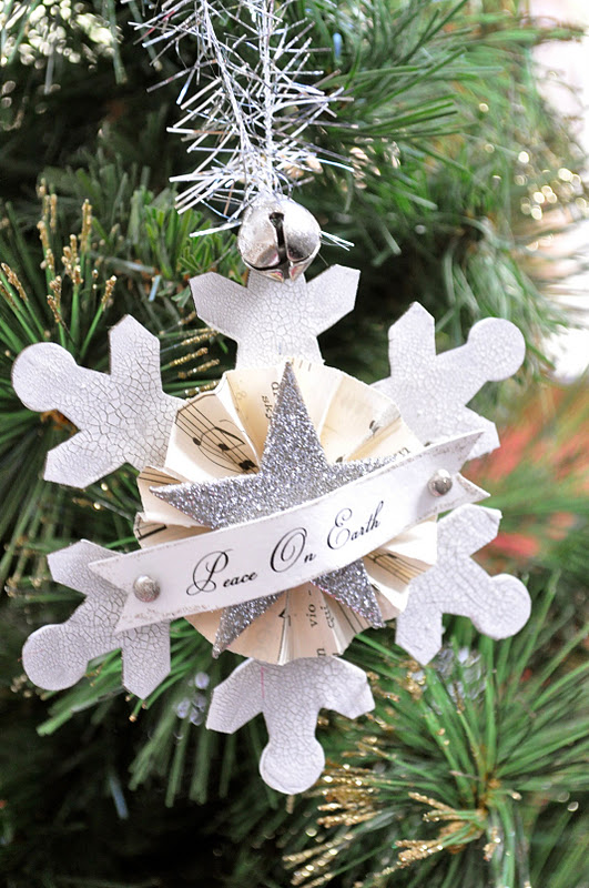 Vintage snowflake glitter ornament tutorial little