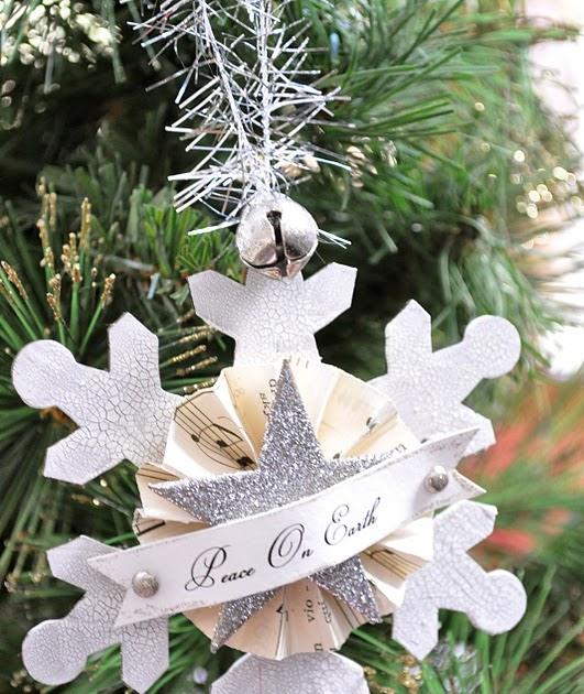 Vintage Snowflake Amp Glitter Ornament Tutorial Little