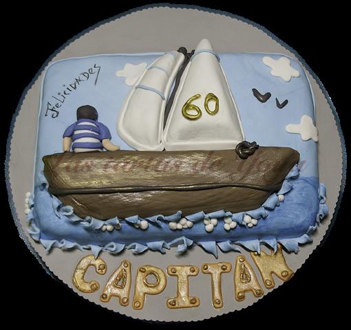 Las tartas de Yoya: Tarta Fondant para un gran marinero