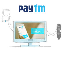 DTH Recharge Rs. 100 Cashback on Rs. 500, Rs. 225 Cashback on Rs. 1000 – Paytm