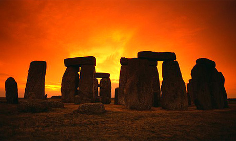 Sunset in Stonehenge
