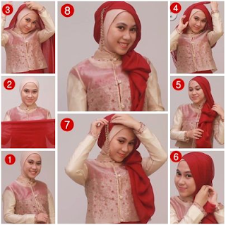 Tutorial Hijab Kebaya Pesta