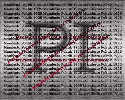 Isi Dari Manifesto Politik 1925
