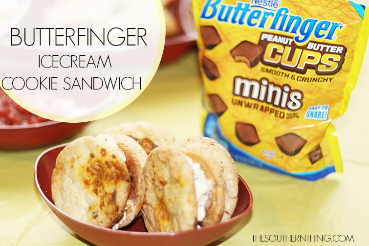 butterfinger ice cream cookie sandwich recipe