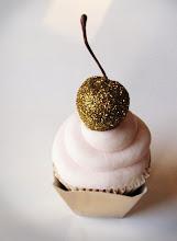 Sparkle Cherry Cupcake