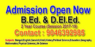 Admission Notification into the B.Ed. & D.El.Ed. Course for the session 2017-2018