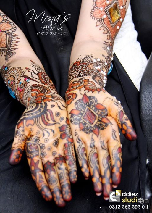 BridalmehndiwwwShe9blogspotcom2528122529 - Embroidered Mehndi