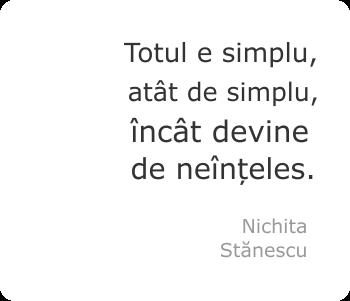 Totul e simplu, atât de simplu, încât devine de neînțeles.