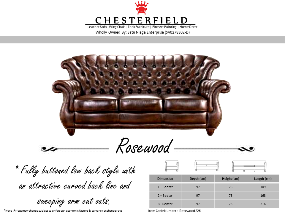 Royale Chesterfield Chesterfield Sofa High Back Design