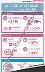 Activité e-commerce des TPE-PME en infographie