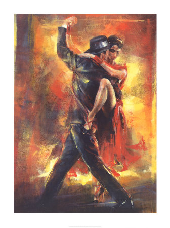 Tango Dancers Art