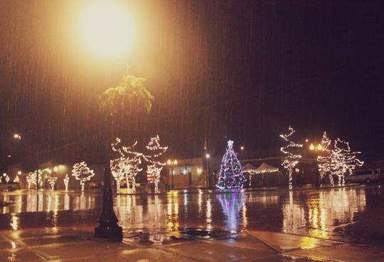 Sandpoint Christmas rainy