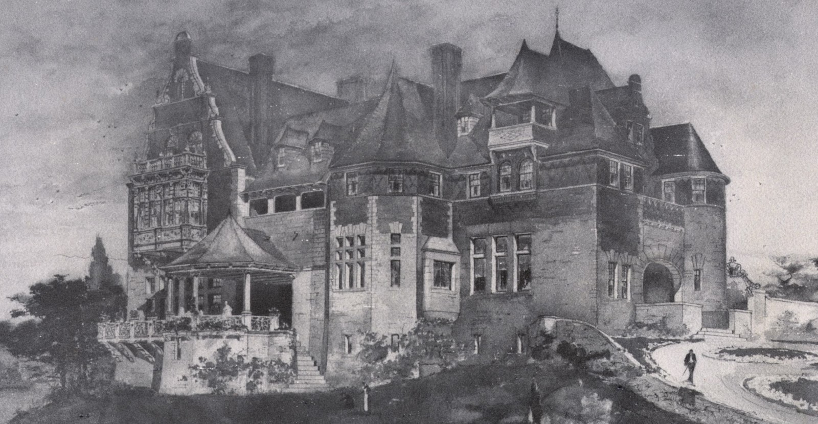 The gilded age era the mrs charles b alexander mansion for Tuxedo house