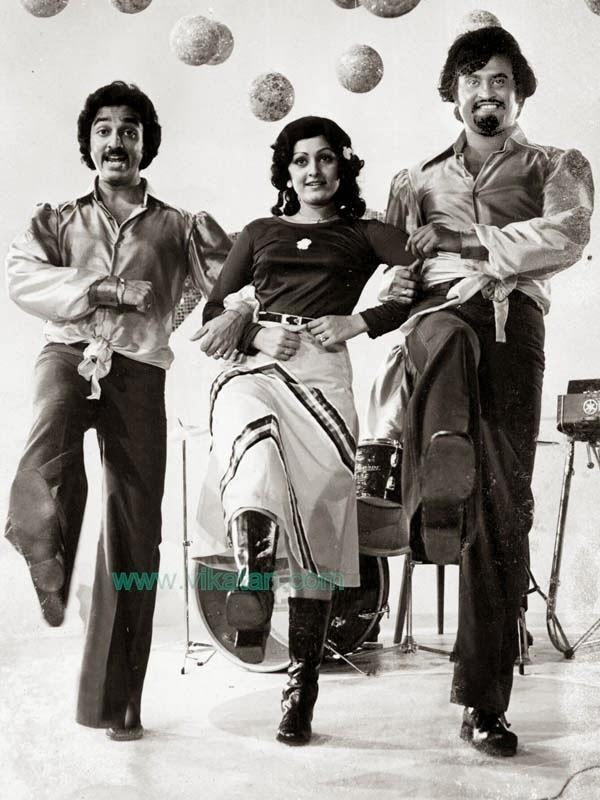 'Thalaivar' Rajinikanth, Kamalhaasan & Jayapradha in 'Ninaithale inikkum' Movie