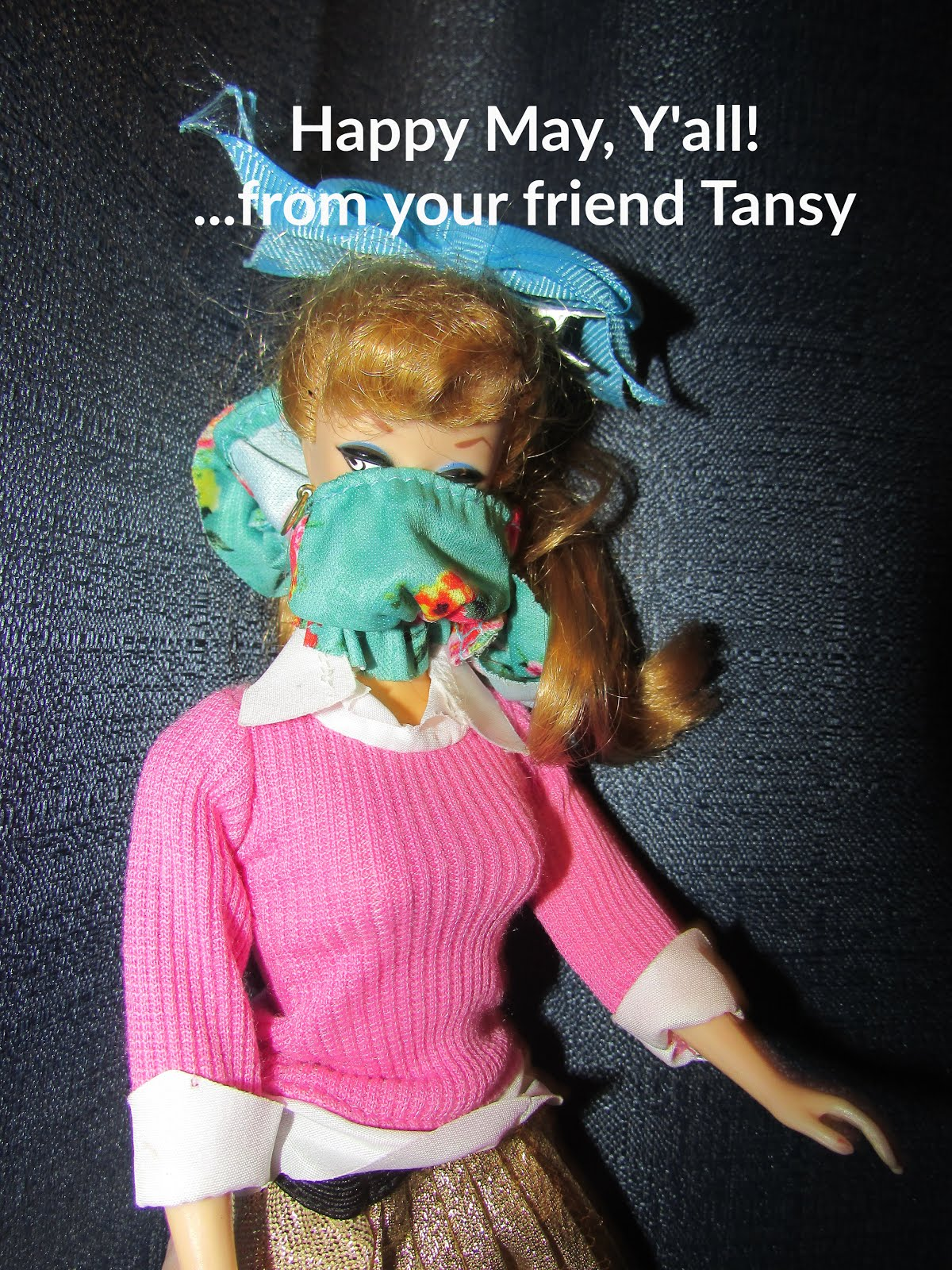 """Wash hands, wear mask, be safe, stay healthy"" says Tansy"