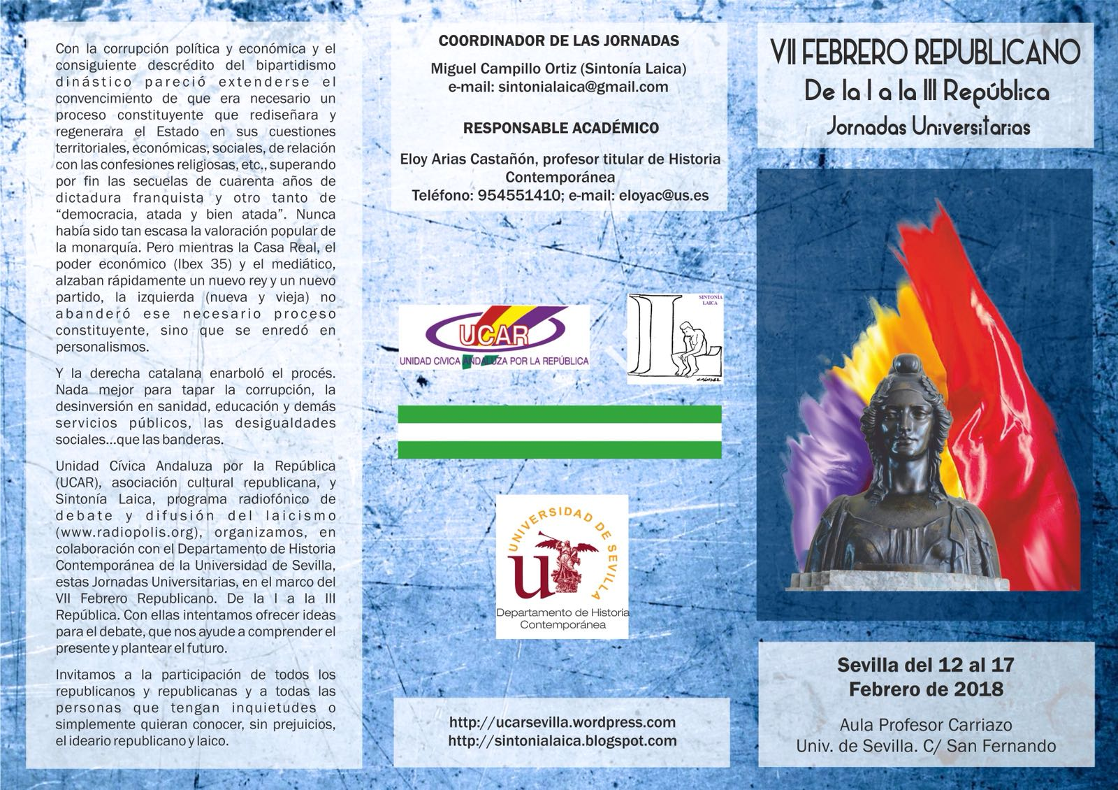 VIII FEBRERO REPUBLICANO: De la I a la III República. Jornadas Universitarias.