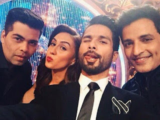 Shahid Kapoor on the sets of Jhalak Dikhala Jaa 8 season