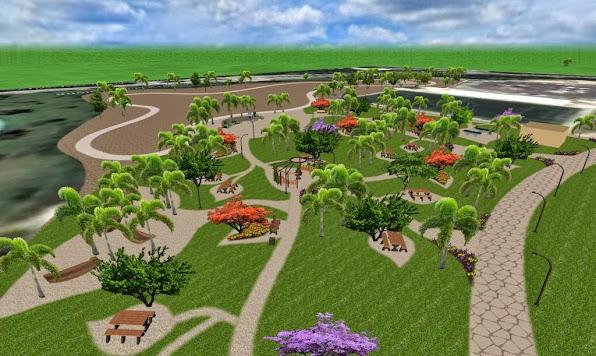 Dise o 3d de un parque conceptual ecol gico parque para for Adornos para parques y jardines