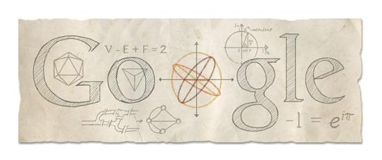 數學家尤拉(Euler)306 歲的誕辰 Google Doodle