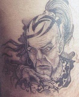 Tatuagem face de vampiro