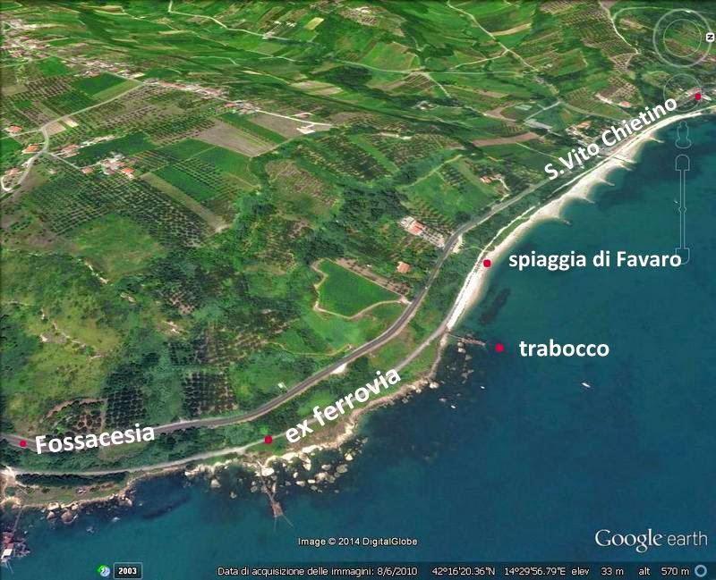 Tracce minime la via verde della costa dei trabocchi for Linea verde favaro