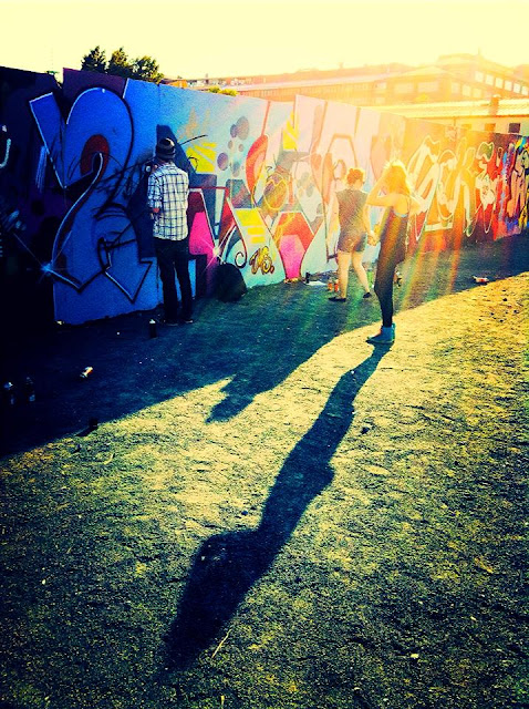 Graffiti, Sunny Day, Helsinki, Finland