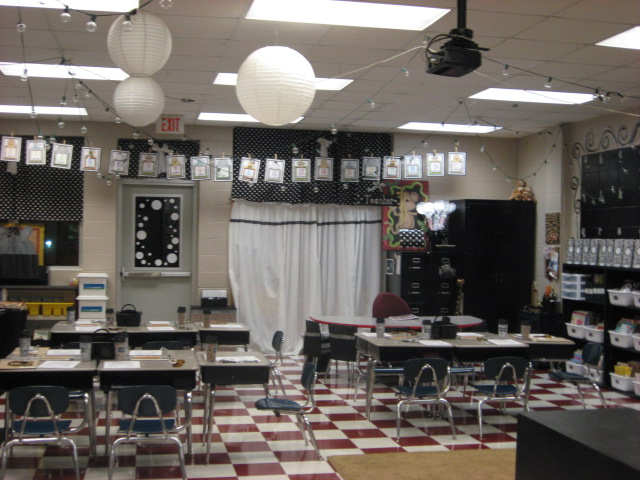 Black And White Classroom Decoration ~ Glyph girls step into my classroom