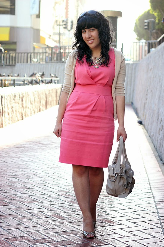 Pink Dress and Cardigan