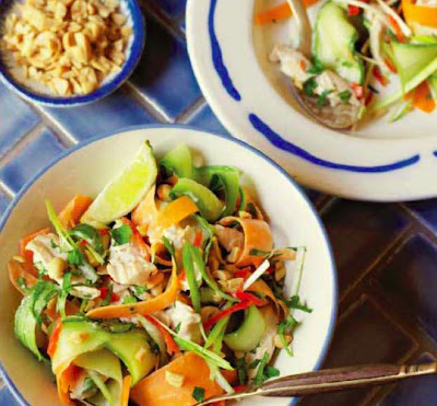 Quick Thai Poached Chicken Salad