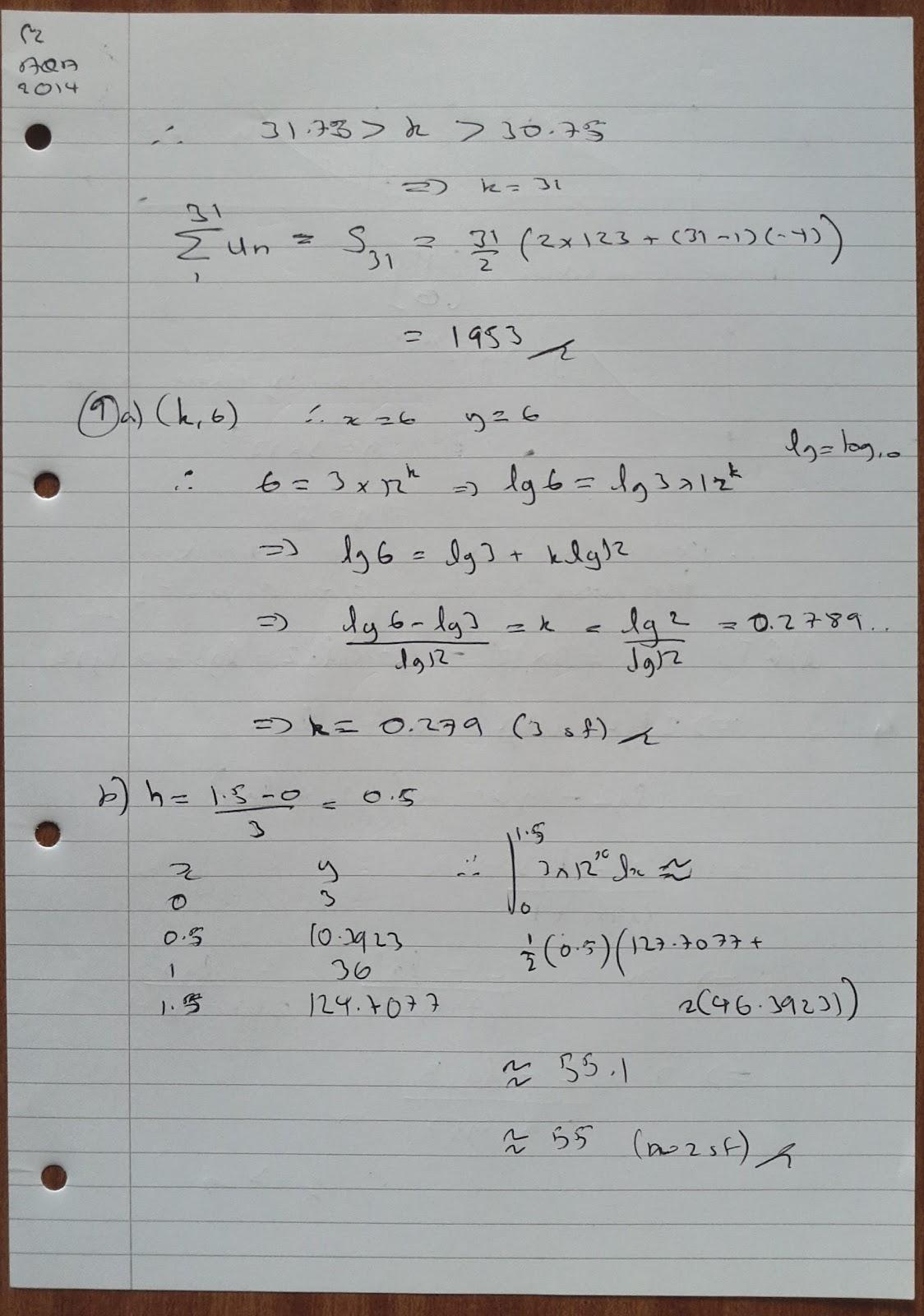 ocr gcse maths c terminal paper