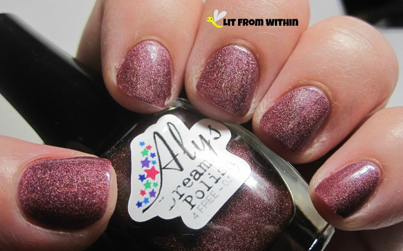gorgeous scattered holo, Aly's Dream Polish Cherry Coke