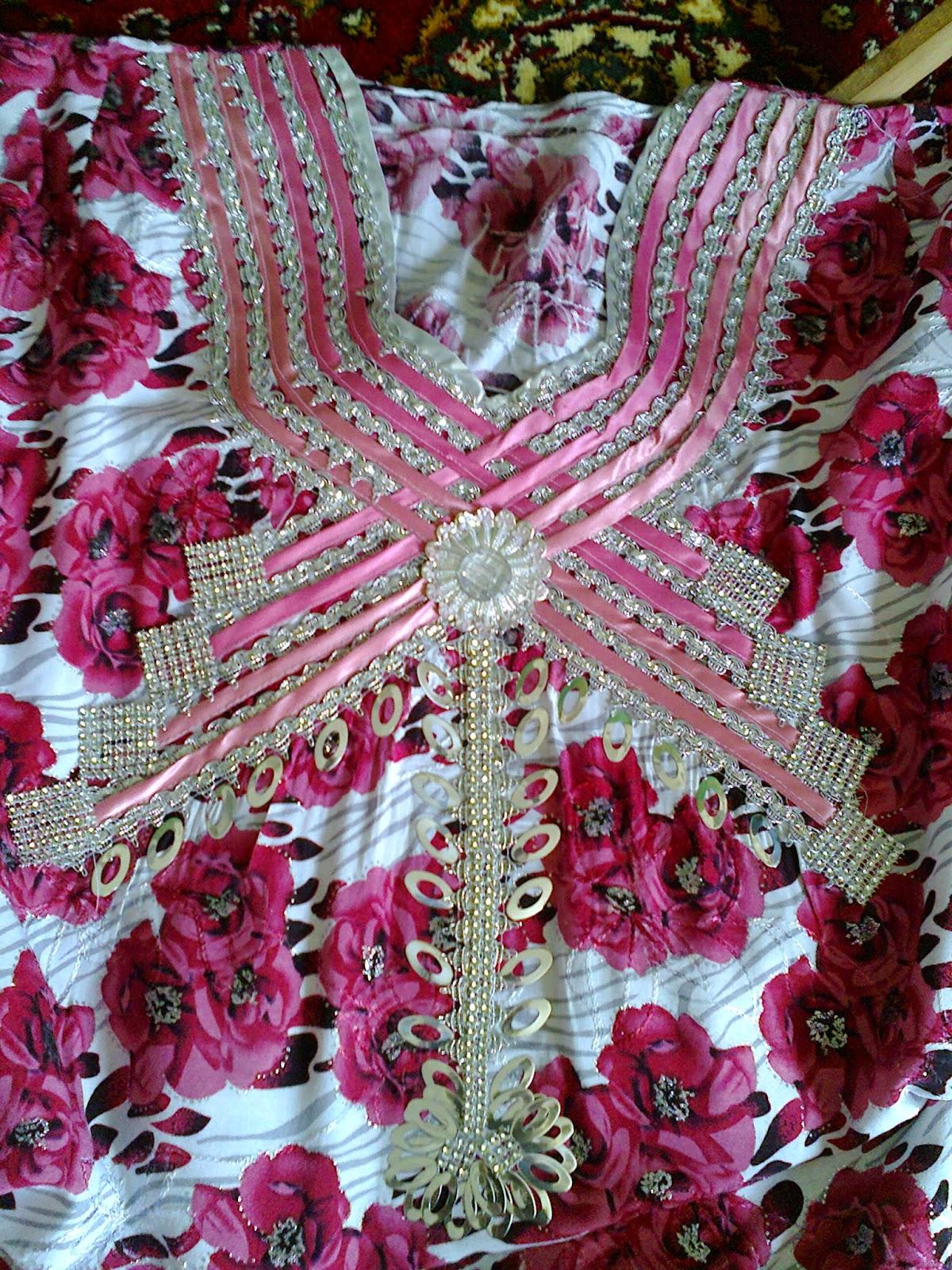 تصاميم دشاديش عراقية منزلية بخياطة يدوية
