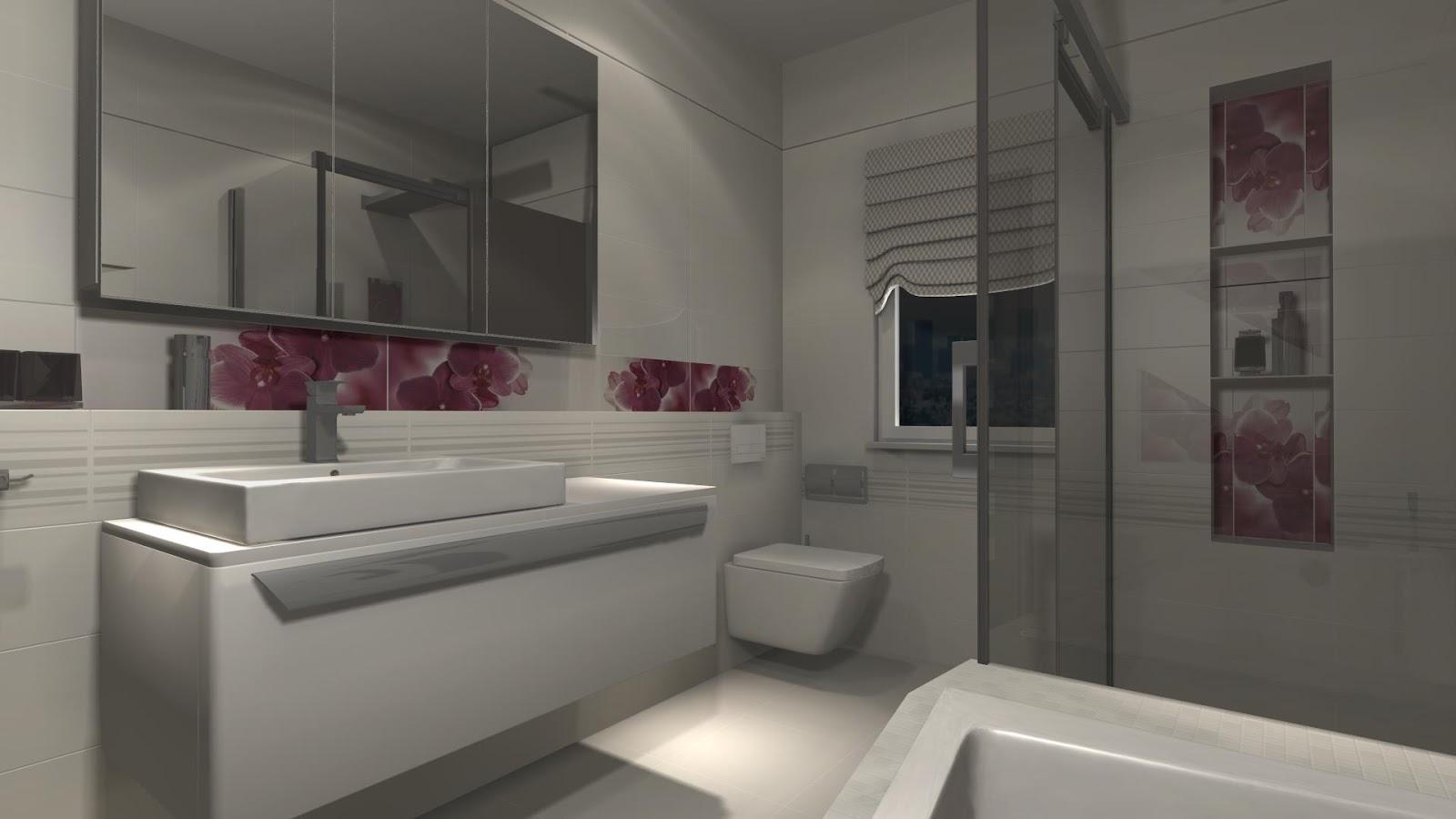 Projekty łazienek Storczyki łazienka 9 M2