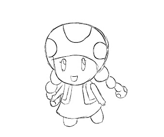#1 Toadette Coloring Page