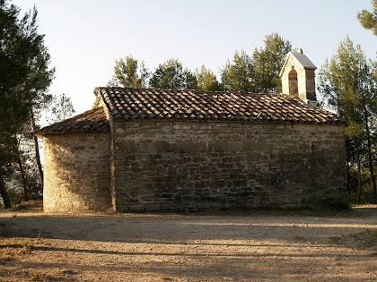 Façana nord de l'ermita de Sant Salvador del Canadell