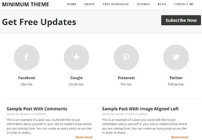 Minimum Theme Blogger Template