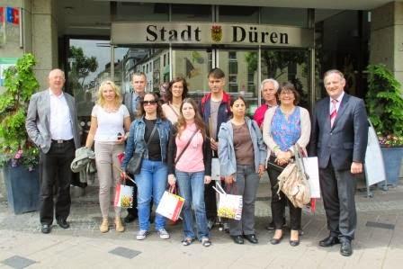 A fotografia oficial, junto ao edifício da Câmara de Düren!