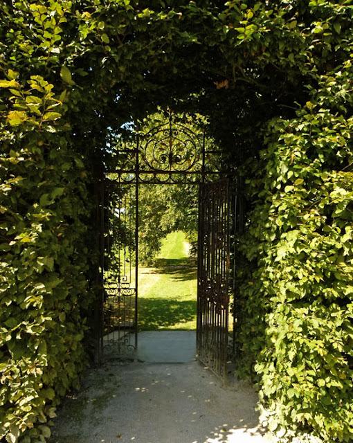 Beech arch, Holker, Summer Garden