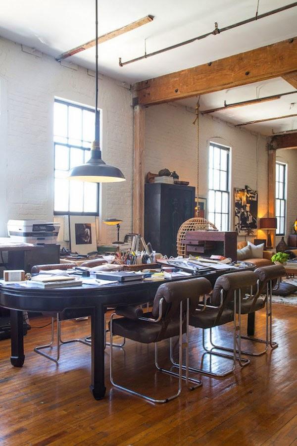 loft estilo industrial madera comedor los angeles