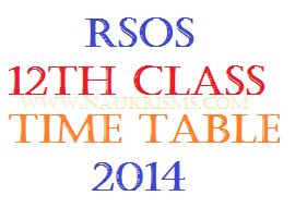 RSOS 12th Time Table 2014