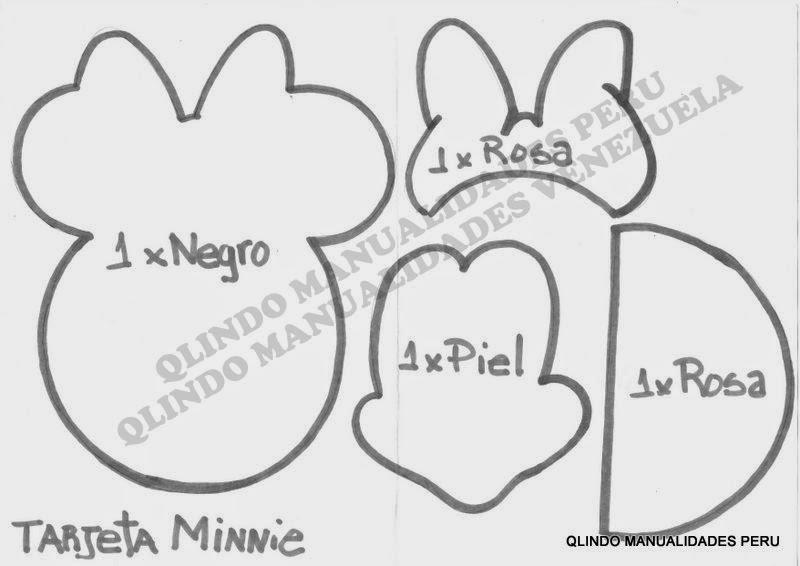 Q'LINDO Manualidades: Tarjeta de Minnie y Mickey Mouse