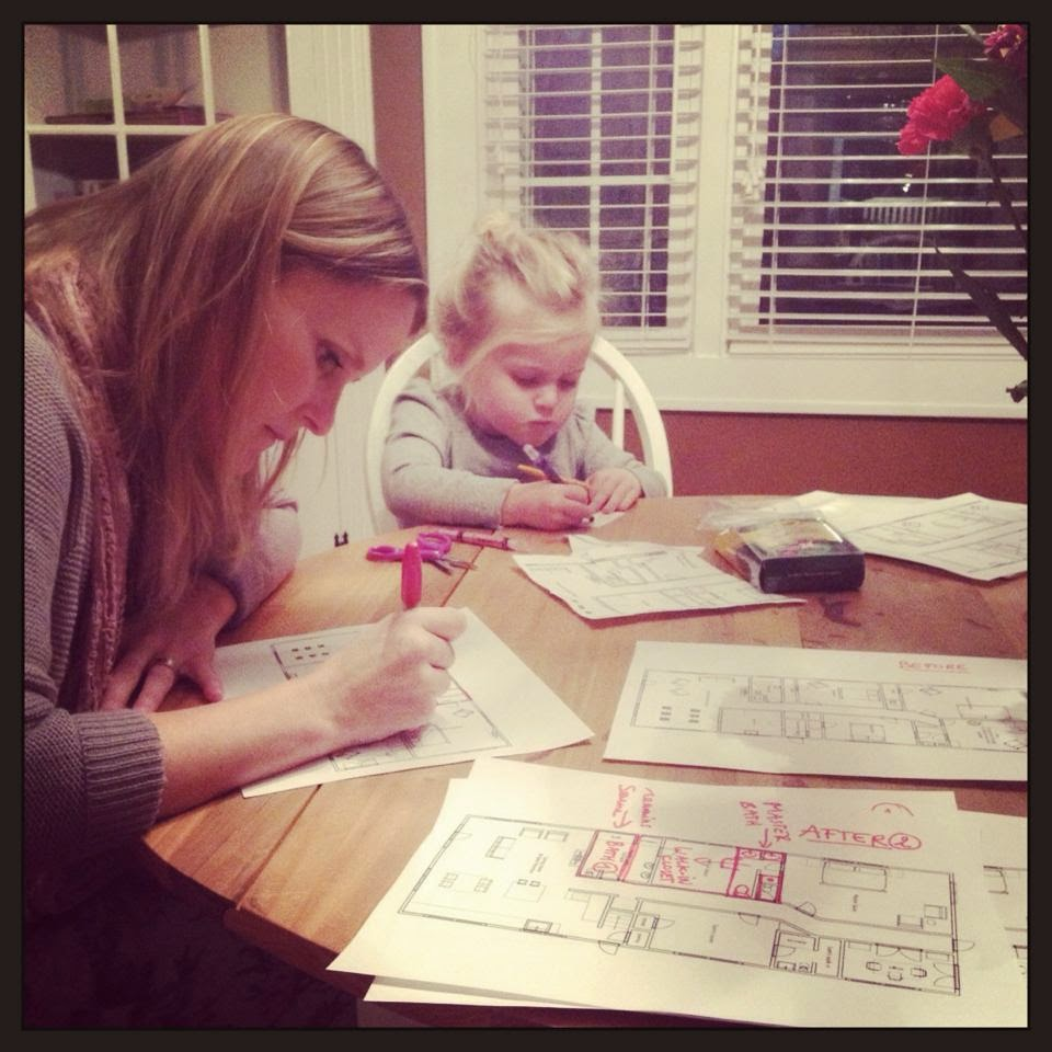Mom and daughter planning the remodel.