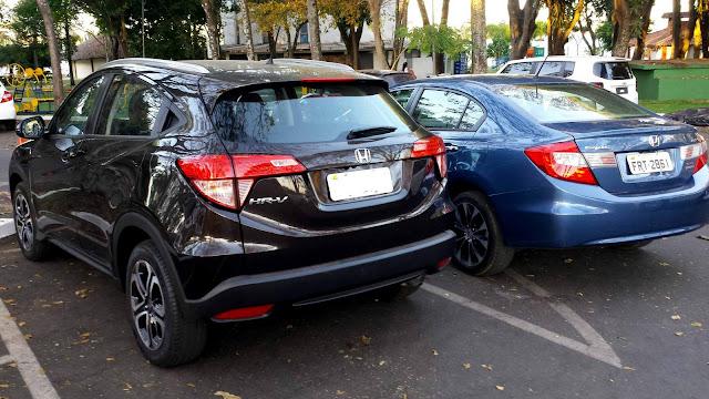 Honda Civic x Honda HR-V: comparativo de desempenho e consumo