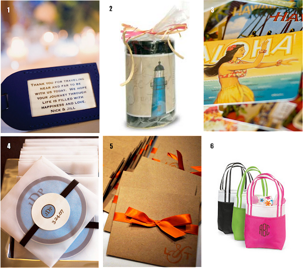 Destination Wedding Guest Gift Ideas