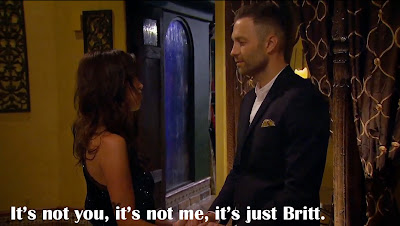 Bachelor Brady leaves to be with Britt