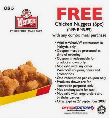 Wendys coupons online