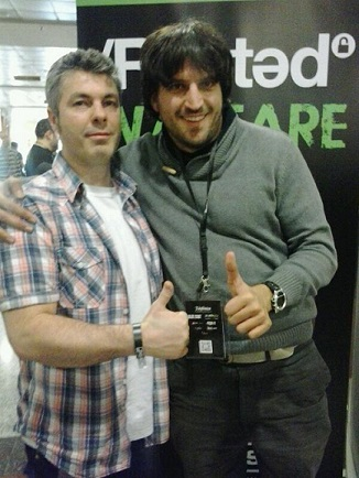Longinos y yo en la RootedCon 2014