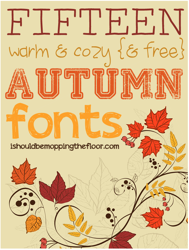 Free Halloween Fonts | 15 Warm & Cozy Autumn Fonts, too!